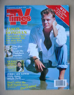<!--1989-04-01-->TV Times magazine - Jason Donovan cover (1-7 April 1989)