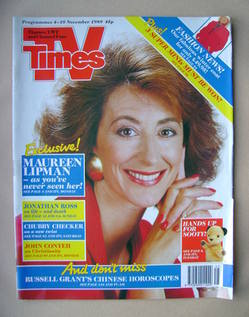 <!--1989-11-04-->TV Times magazine - Maureen Lipman cover (4-10 November 19
