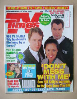 <!--1994-04-09-->TV Times magazine - The Bill cover (9-15 April 1994)