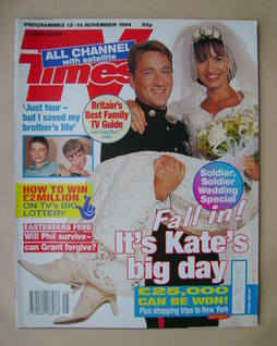 <!--1994-11-12-->TV Times magazine - Dorian Healy and Lesley Vickerage cove
