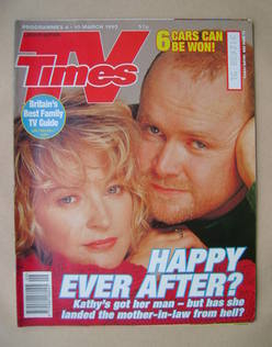 <!--1995-03-04-->TV Times magazine - Gillian Taylforth and Steve McFadden c