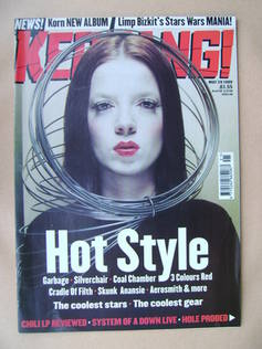 <!--1999-05-29-->Kerrang magazine - Shirley Manson cover (29 May 1999 - Iss