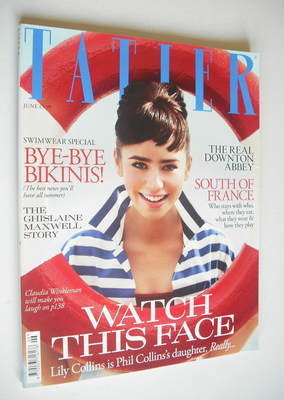 <!--2011-06-->Tatler magazine - June 2011 - Lily Collins cover