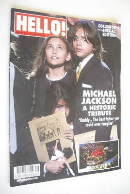 <!--2009-07-20-->Hello! magazine - Prince Michael, Paris and Blanket cover
