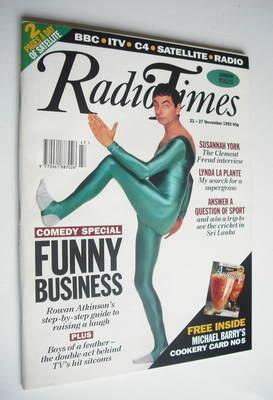 <!--1992-11-21-->Radio Times magazine - Rowan Atkinson cover (21-27 Novembe