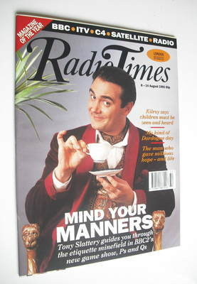 <!--1992-08-08-->Radio Times magazine - Tony Slattery cover (8-14 August 19