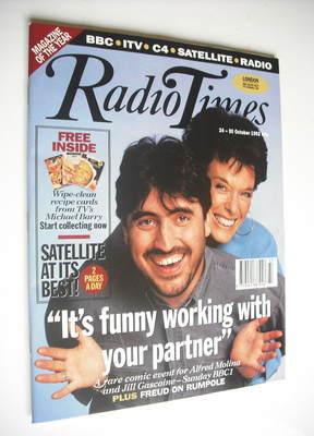 <!--1992-10-24-->Radio Times magazine - Alfred Molina and Jill Gascoine cov