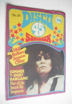 Disco 45 magazine - No 58 - August 1975 - Marc Bolan cover