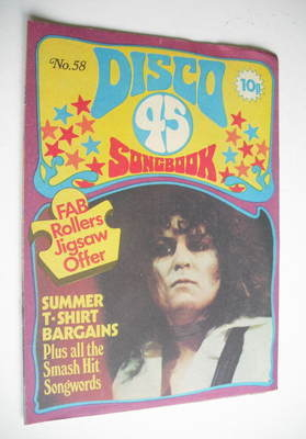 <!--1975-08-->Disco 45 magazine - No 58 - August 1975 - Marc Bolan cover