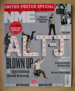 <!--2012-11-24-->NME magazine - Alt-J cover (24 November 2012)