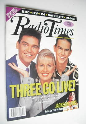 <!--1992-09-26-->Radio Times magazine - Three Go Live cover (26 September -