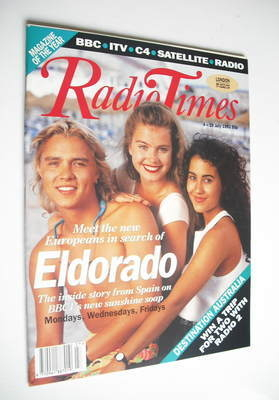 <!--1992-07-04-->Radio Times magazine - Eldorado cover (4-10 July 1992)