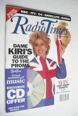 <!--1992-07-11-->Radio Times magazine - Dame Kiri Te Kanawa cover (11-17 Ju