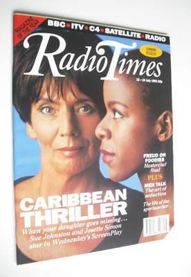 <!--1992-07-18-->Radio Times magazine - Sue Johnston and Josette Simon cove