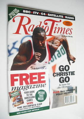 <!--1992-07-25-->Radio Times magazine - Linford Christie cover (25-31 July