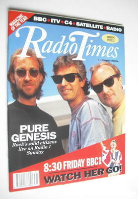 <!--1992-08-01-->Radio Times magazine - Genesis cover (1-7 August 1992)