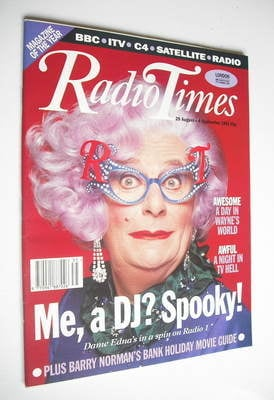 <!--1992-08-29-->Radio Times magazine - Dame Edna Everage cover (29 August