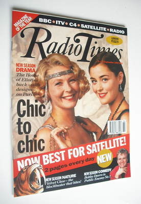 <!--1992-09-05-->Radio Times magazine - Stella Gonet and Louise Lombard cov