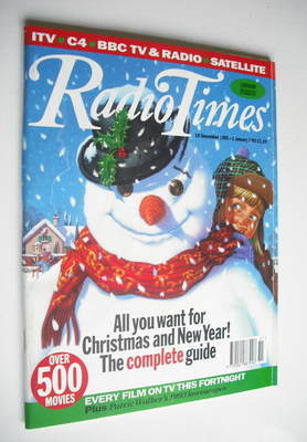 <!--1992-12-19-->Radio Times magazine - Snowman cover (19 December 1992 - 1