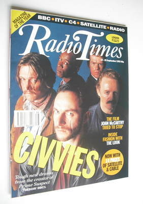 <!--1992-09-19-->Radio Times magazine - Civvies cover (19-25 September 1992