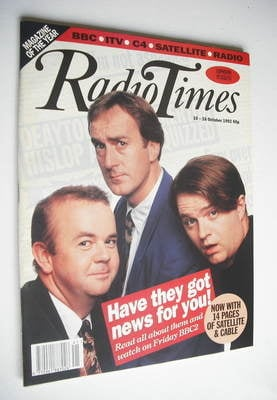 <!--1992-10-10-->Radio Times magazine - Have I Got News For You cover (10-1