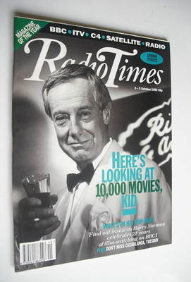 <!--1992-10-03-->Radio Times magazine - Barry Norman cover (3-9 October 199