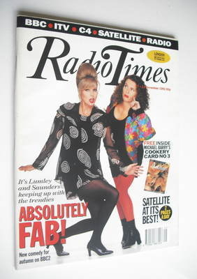 <!--1992-11-07-->Radio Times magazine - Joanna Lumley and Jennifer Saunders