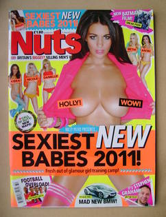 <!--2011-08-12-->Nuts magazine - Holly Peers cover (12-18 August 2011)