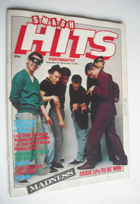 <!--1979-11-29-->Smash Hits magazine - Madness cover (29 November - 12 Dece