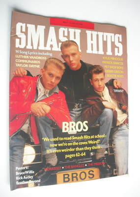 <!--1988-02-10-->Smash Hits magazine - Bros cover (10-23 February 1988)