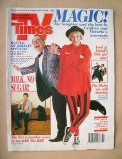 <!--1990-09-08-->TV Times magazine - Geoffrey Durham and Victoria Wood cove