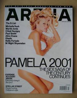 <!--2001-02-->Arena magazine - February 2001 - Pamela Anderson cover
