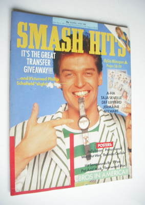 <!--1988-04-20-->Smash Hits magazine - Phillip Schofield cover (20 April-3