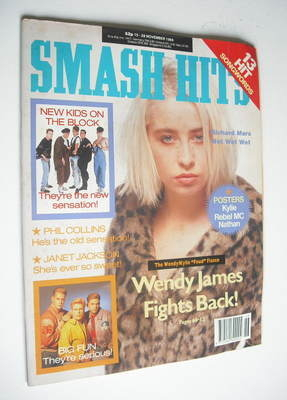 <!--1989-11-15-->Smash Hits magazine - Wendy James cover (15-28 November 19