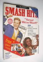 <!--1989-11-01-->Smash Hits magazine - Kylie Minogue and Jason Donovan cover (1-14 November 1989)