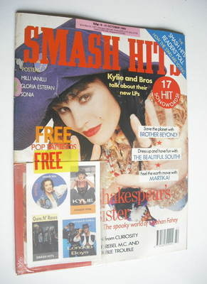 <!--1989-10-18-->Smash Hits magazine - Siobhan Fahey cover (18-31 October 1