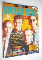 <!--1988-11-16-->Smash Hits magazine - Wet Wet Wet cover (16-29 November 1988)