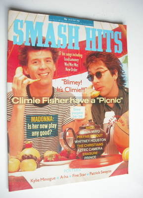 <!--1988-05-18-->Smash Hits magazine - Climie Fisher cover (18-31 May 1988)