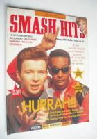 <!--1988-06-15-->Smash Hits magazine - Rick Astley and Derek B cover (15-28 June 1988)