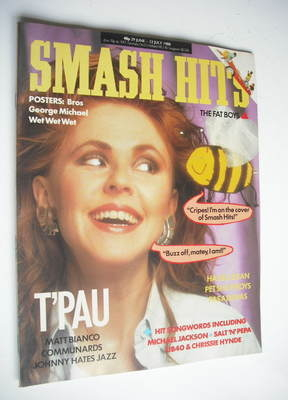 <!--1988-06-29-->Smash Hits magazine - T'Pau cover (29 June-12 July 1988)