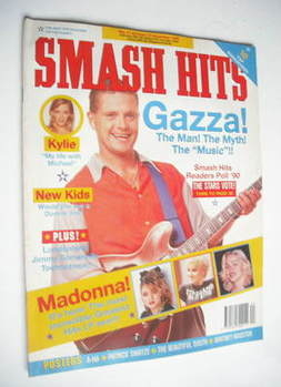 <!--1990-10-31-->Smash Hits magazine - Paul Gascoigne cover (31 October-13