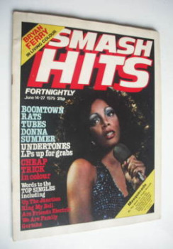Smash Hits magazine - Donna Summer cover (14-27 June 1979)