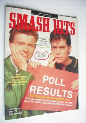 <!--1987-12-16-->Smash Hits magazine - Rick Astley and Phillip Schofield co