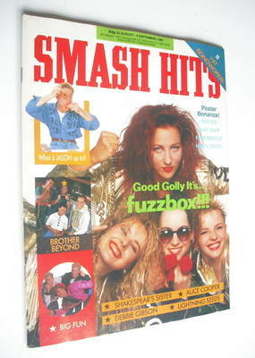 <!--1989-08-23-->Smash Hits magazine - Fuzzbox cover (23 August-5 September