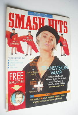 <!--1989-04-19-->Smash Hits magazine - Wendy James cover (19 April - 2 May