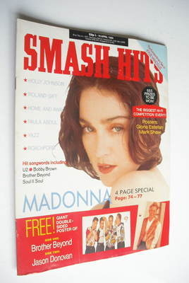 <!--1989-04-05-->Smash Hits magazine - Madonna cover (5-18 April 1989)