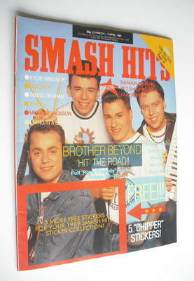 <!--1989-03-22-->Smash Hits magazine - Brother Beyond cover (22 March-4 Apr