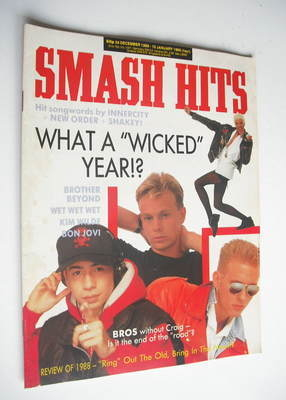 <!--1988-12-28-->Smash Hits magazine - Jason Donovan cover (28 December 198