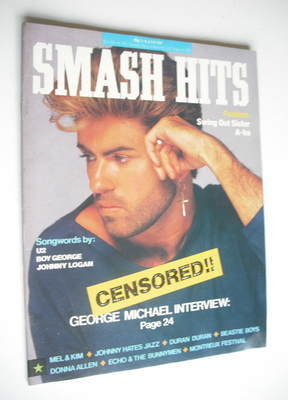 <!--1987-06-03-->Smash Hits magazine - George Michael cover (3-16 June 1987
