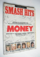 <!--1986-09-24-->Smash Hits magazine - Money cover (24 September-7 October 1986)